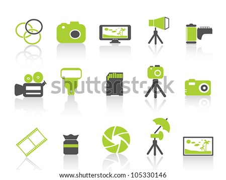 photography element icon,green series