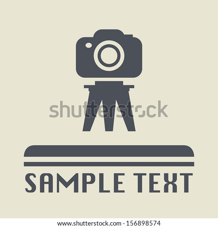 Photography icon or sign, vector illustration - stock vector