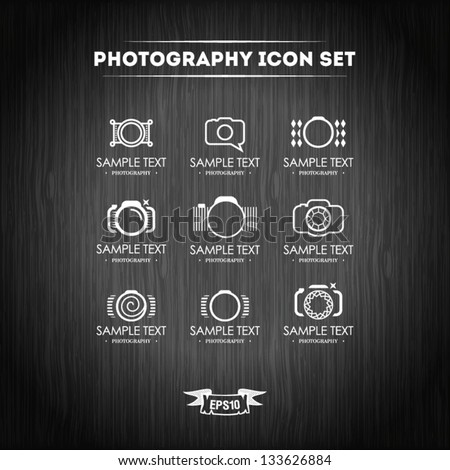 Photography icon set - stock vector