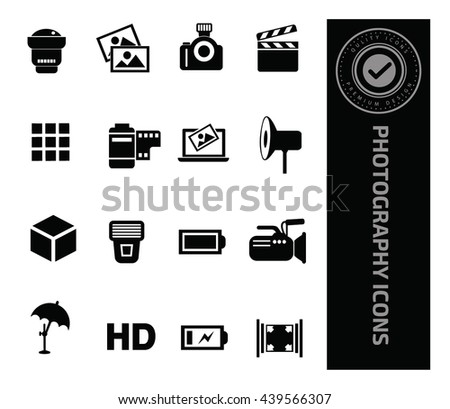 Photography icon set,vector