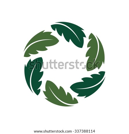 photography logo. nature photography. leaf icon form a photography symbol.