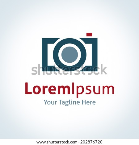 Photography professional logo company lens brand icon - stock vector