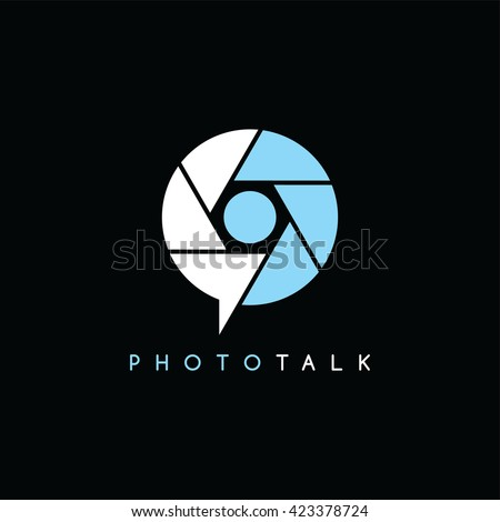 photography symbol theme logotype vector art illustration - stock vector