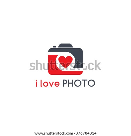 photography theme - camera logotype - stock vector
