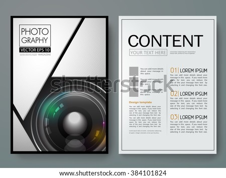 photography brochure template free - flyers template vector photography brochure report stock