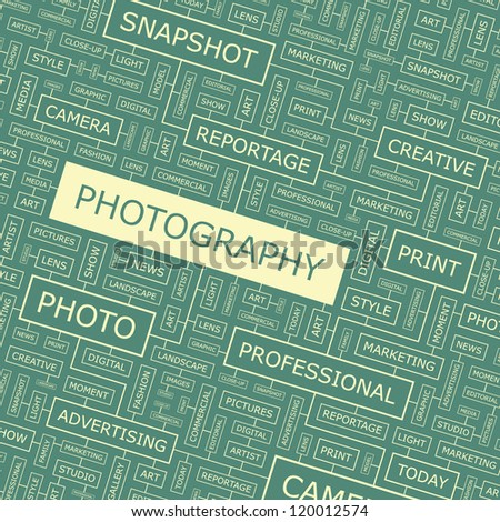 PHOTOGRAPHY. Word collage. Vector illustration. - stock vector