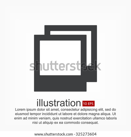 photos. vector icon - stock vector
