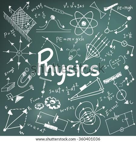 Physics Science Theory Law Mathematical Formula Stock