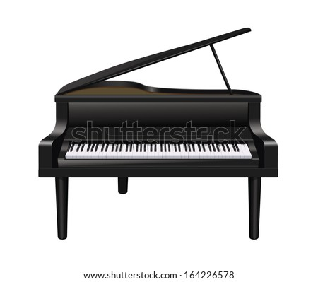 Grand Piano Silhouette Stock Photos, Images, & Pictures ...
