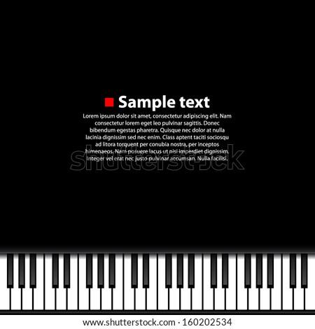 Piano background. Vector illustration. - stock vector