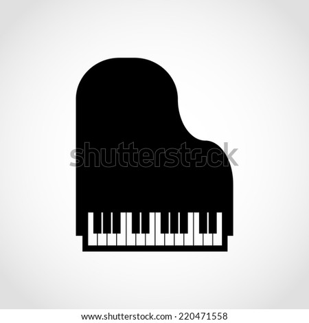 Piano Icon Isolated on White Background - stock vector