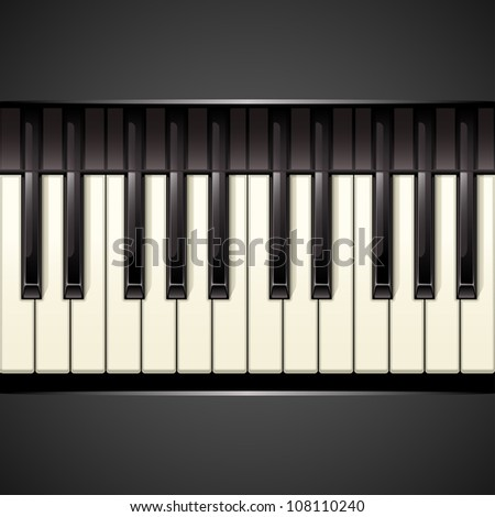 piano key - stock vector