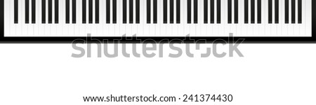 Piano keyboard - stock vector
