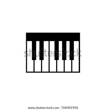 Piano Keyboard Icon Music Sign Simple Element Premium Quality Graphic