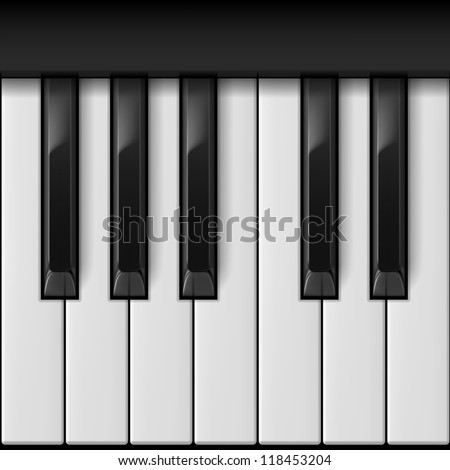 Piano keys. Cool illustration for creative design - stock vector