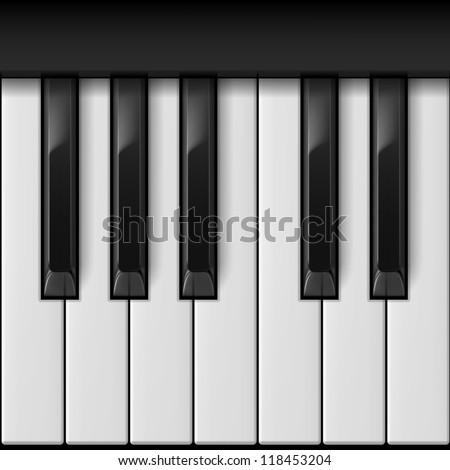 Piano keys. Cool illustration for creative design - stock vector