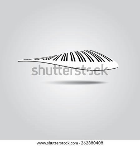 Piano Keys in wave.Vector illustration. - stock vector