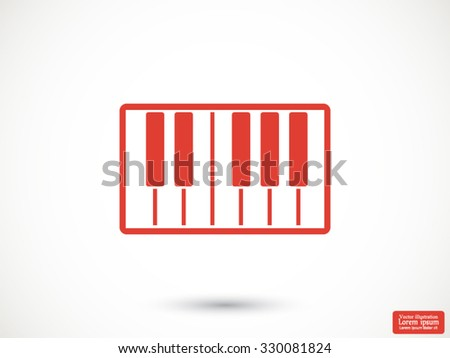 piano vector icon - stock vector