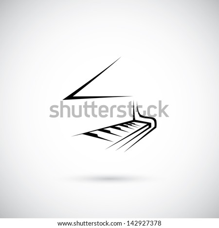 Piano - vector illustration - stock vector