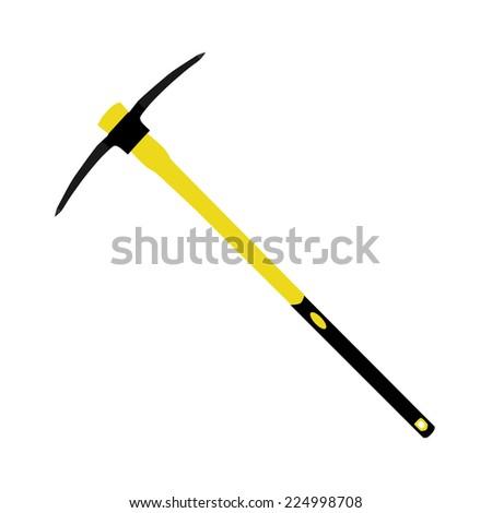 Pick axe, pick axe icon, pick axe vector, old pick axe - stock vector
