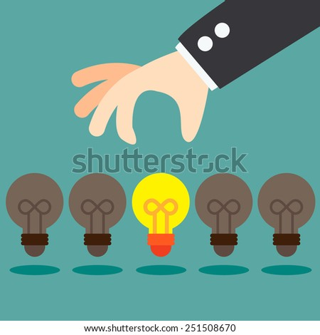 Pick up Great Idea - stock vector