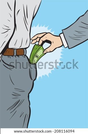 Pickpocket - stock vector
