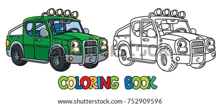 Pickup Truck Coloring Book Kids Small Stock Vector 752909596 ...
