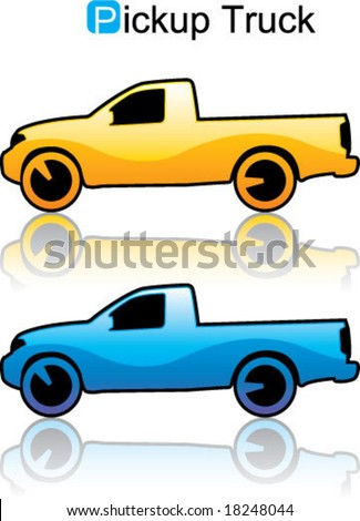 Pickup Truck rental vehicle illustration