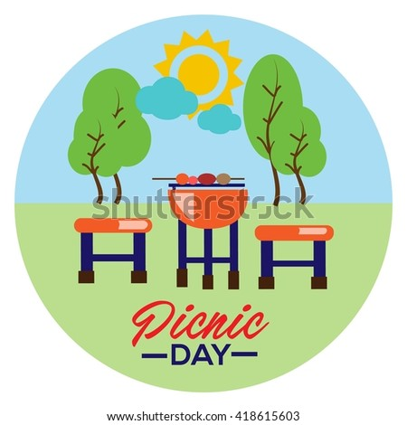 Picnic Illustration Template