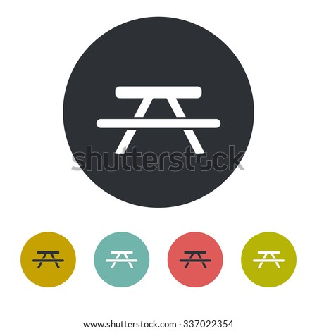 picnic table icon stock images royaltyfree images