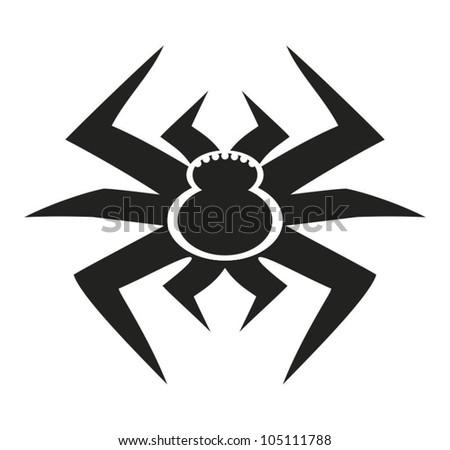 Pictogram of tarantul - stock vector