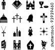 Pictograms of the Catholic religion - stock photo