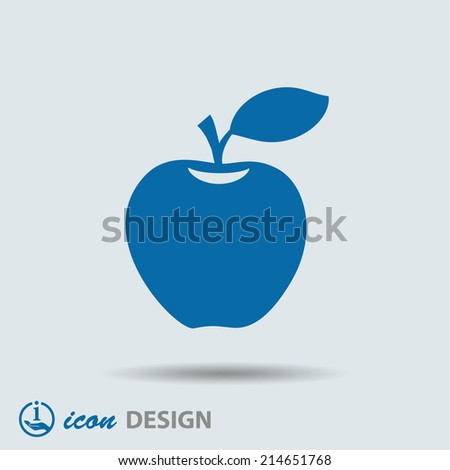 Pictograph of apple - stock vector