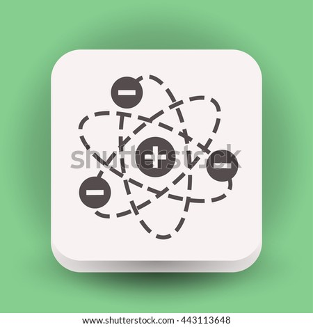 Pictograph of atom. Vector concept illustration for design. Eps 10 - stock vector
