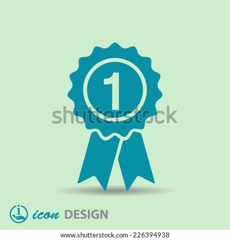 Pictograph of award - stock vector