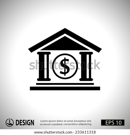 Pictograph of bank - stock vector