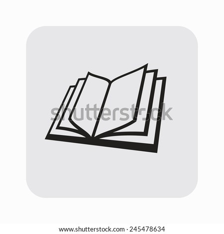 Pictograph of book - stock vector