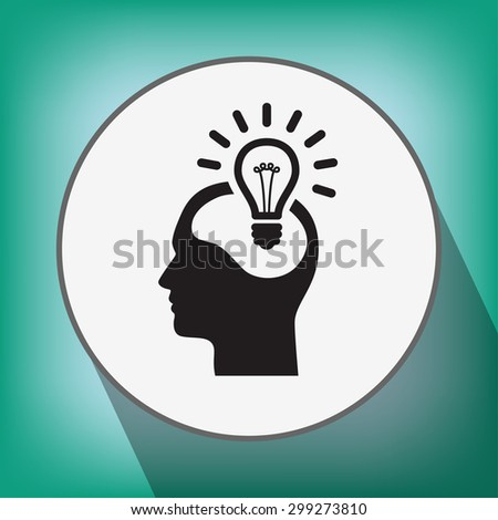 Pictograph of bulb concept - stock vector
