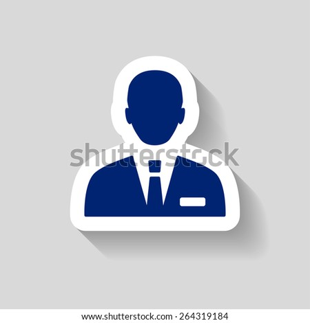 Pictograph of businessman - stock vector