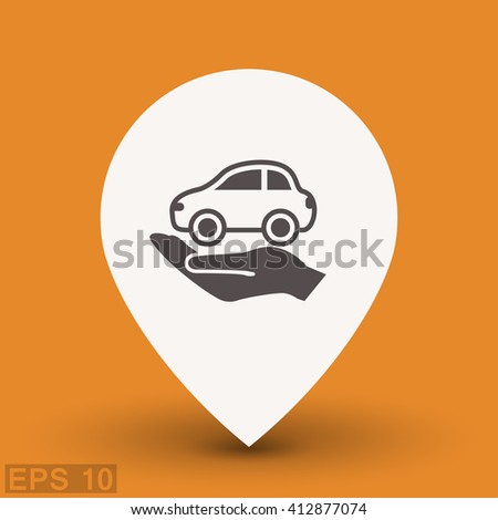 Pictograph of car