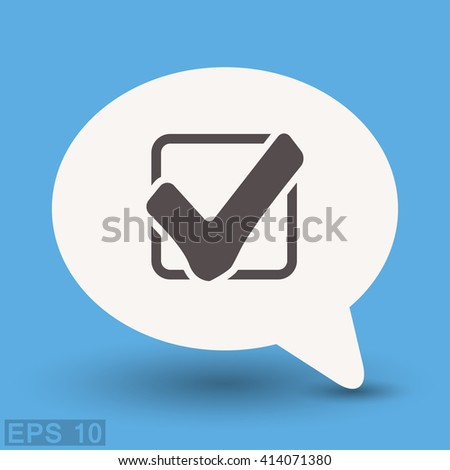 Pictograph of check mark - stock vector