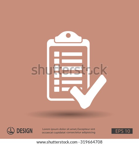 Pictograph of checklist - stock vector
