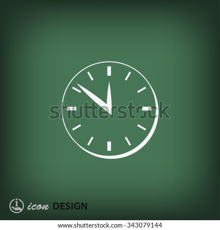 Pictograph of  clock