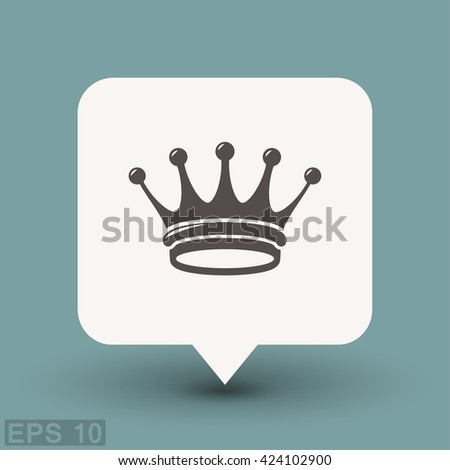 Pictograph of crown - stock vector