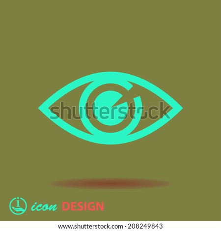 Pictograph of eye