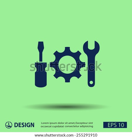 Pictograph of gear - stock vector