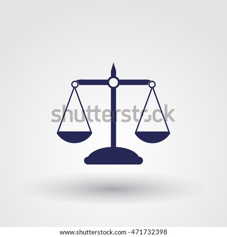 Pictograph of justice scales.