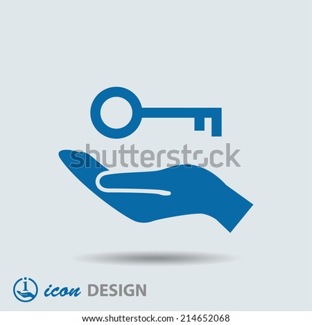 Pictograph of key - stock vector