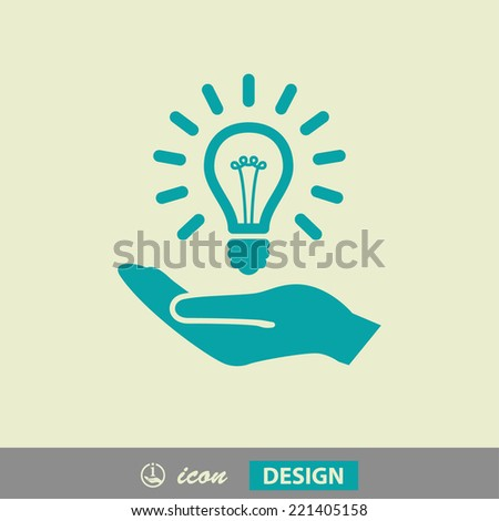 Pictograph of light bulb