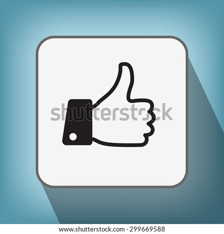 Pictograph of like - stock vector